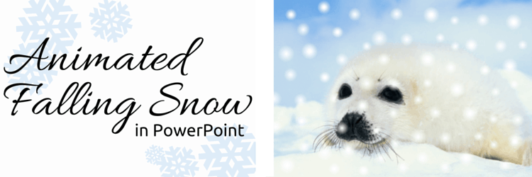 Create a Holiday Card with Falling Snow in PowerPoint
