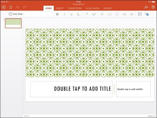 how to read powerpoint on ipad