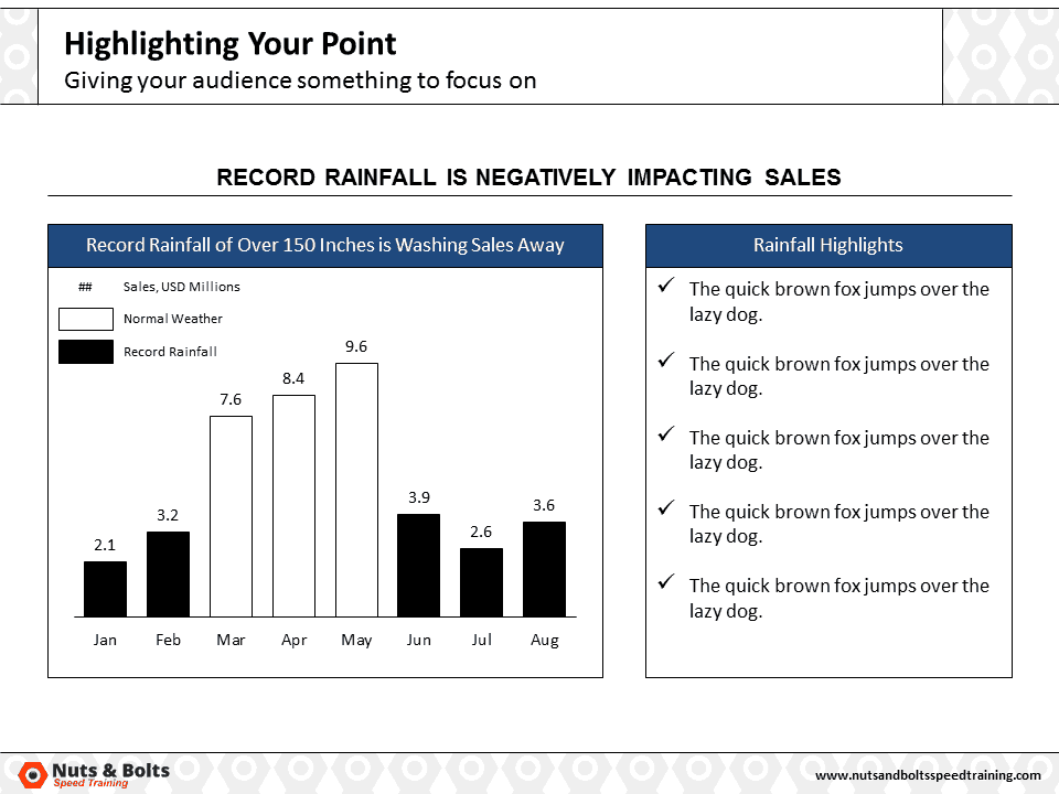 PowerPoint Column Chart Example Highlighting #4