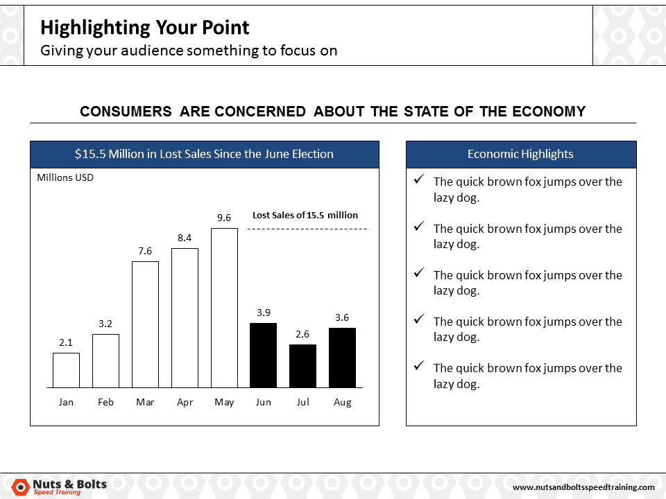 PowerPoint Column Chart Example Highlighting #5
