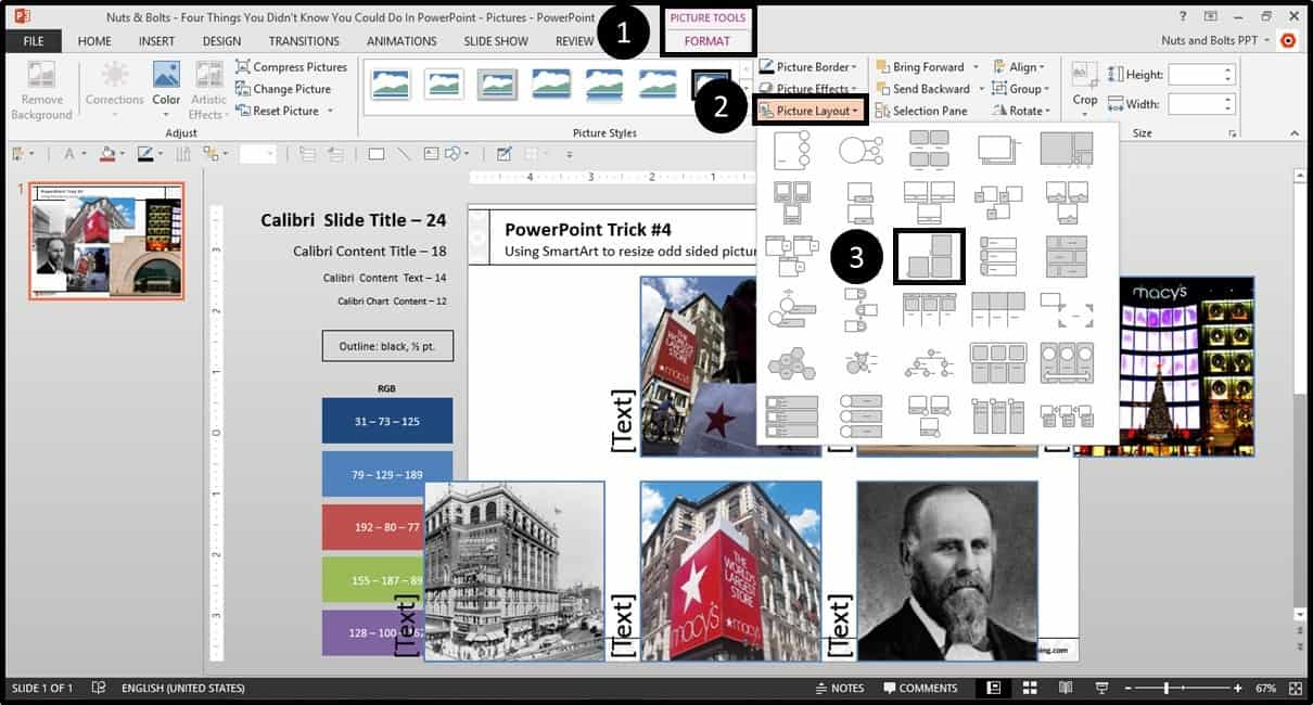 Four Things PowerPoint Trick #4 - Cropping Photos SmartArt Step #2