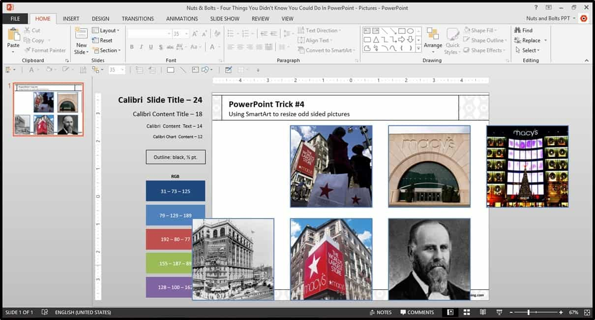 Four Things PowerPoint Trick #4 - Cropping Photos SmartArt Step #4