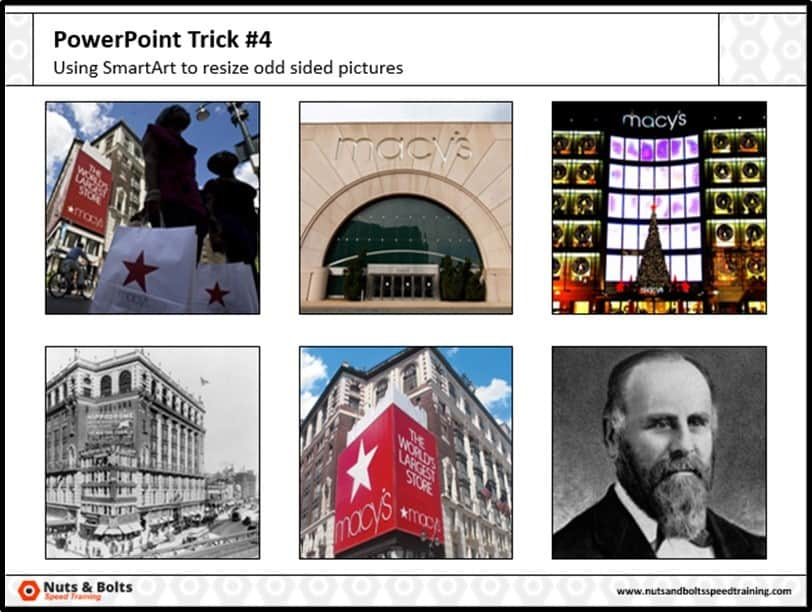Four Things PowerPoint Trick #4 - Cropping Photos SmartArt Step #5