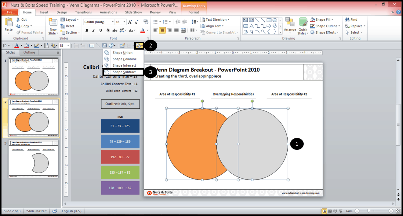 how to make the overlapping part of a venn diagram in powerpoint rh nutsandboltsspeedtraining com