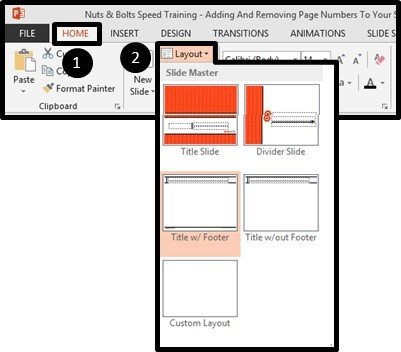 Adding Page Numbers to PowerPoint - Applying a Different PowerPoint Layout