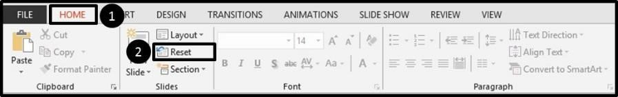Adding Page Numbers to PowerPoint - Resetting a Layout