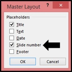 Adding Page Numbers to PowerPoint Step #4 - Master Layout Slide Numbers