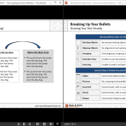 Two PowerPoint Presentations in Slideshow Mode