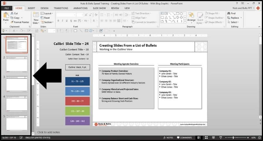 PowerPoint-Bullets-Into-Slides-Step5-Slides-Created-in-Normal-View
