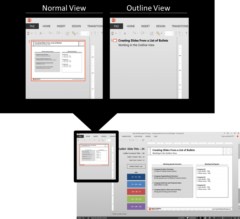 PowerPoint-Outline-View