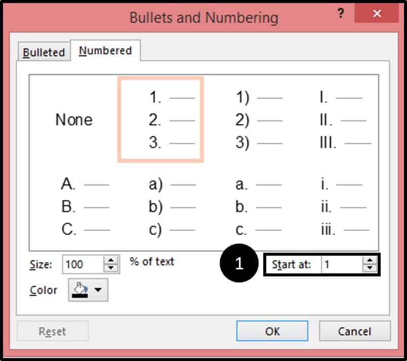 how to create appearing list in powerpoint