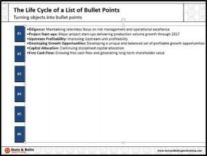 PowerPoint Objects into Bullets Step #4B - Objects as text