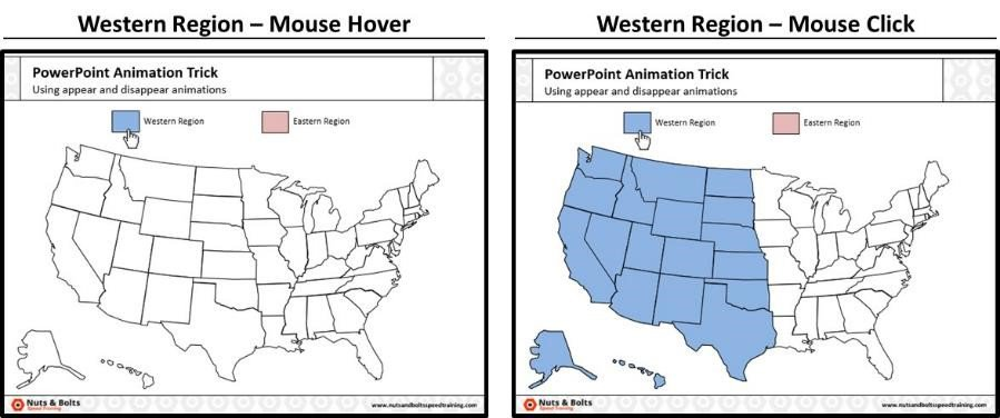 PowerPoint Trigger Objects Step #14A - The Western Region