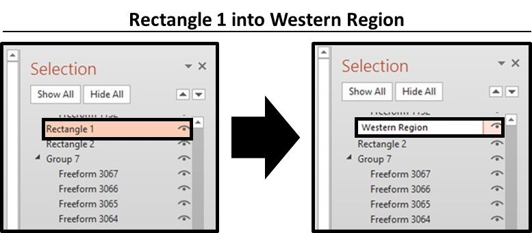 PowerPoint Trigger Objects Step #7A - Rename Your Trigger Objects