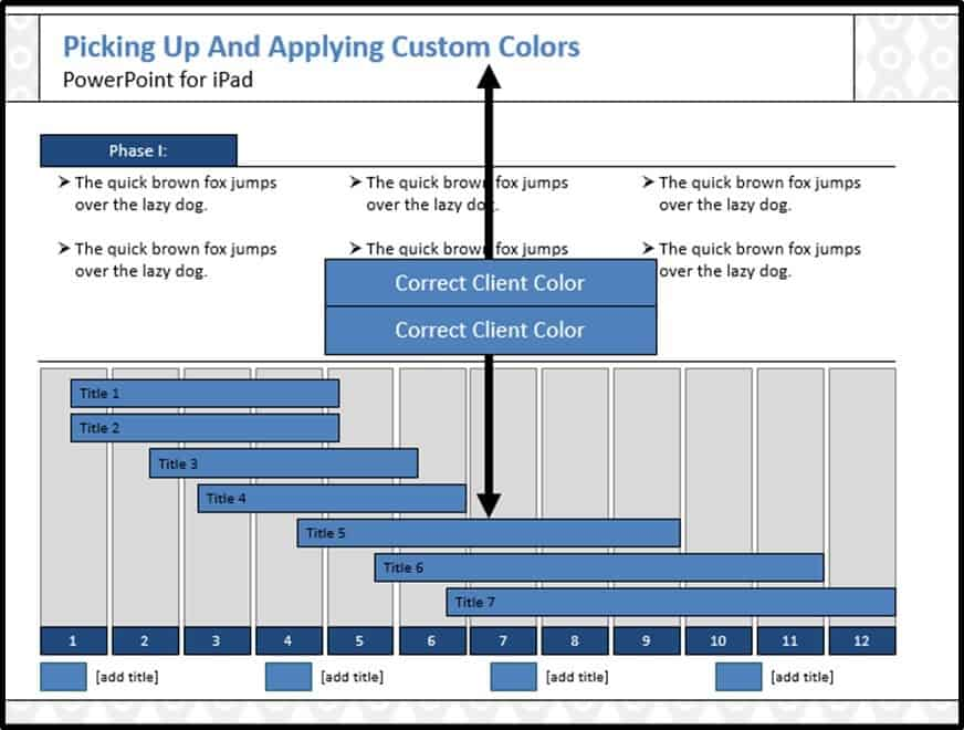 PowerPoint for iPad Custom Color Copy and Apply - Step #5C