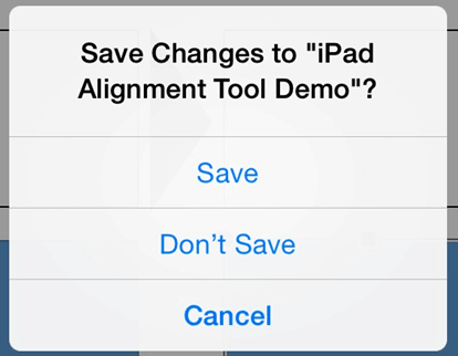 PowerPoint for iPad Navigation File Menu Save Changes