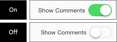 PowerPoint for iPad Review Tab #1 Comments On Off