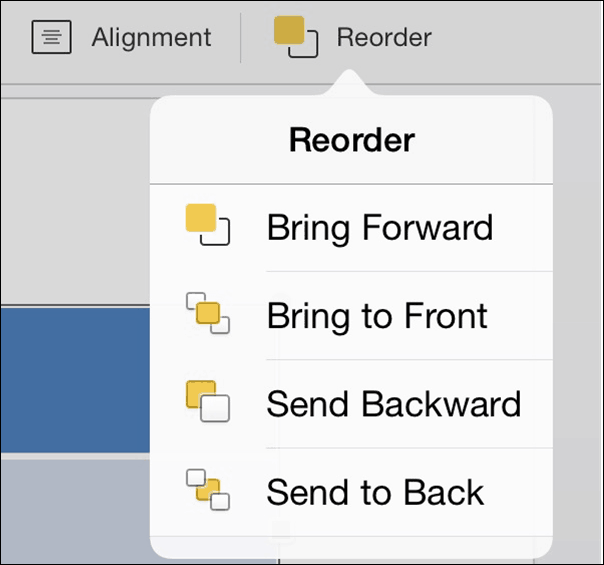 PowerPoint for iPad Table Tab #8 Reorder