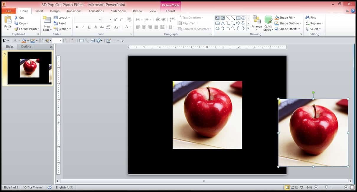 PowerPoint 3D Picture Pop-out Trick Part 2 Step #1