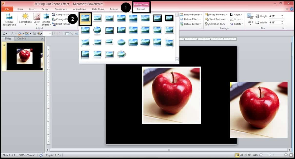 PowerPoint 3D Picture Pop-out Trick Part 2 Step #2