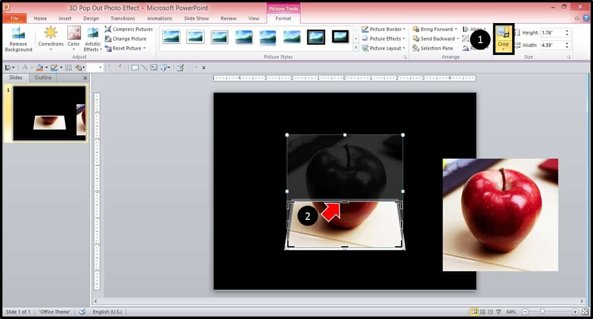 PowerPoint 3D Picture Pop-out Trick Part 2 Step #5