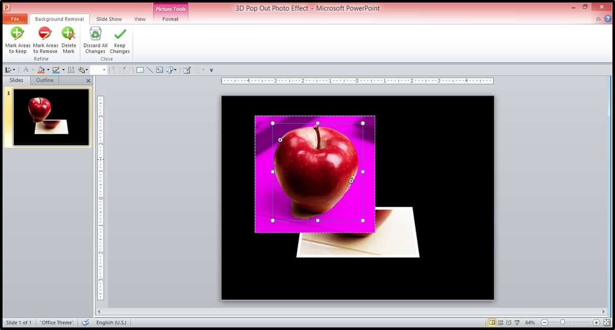 PowerPoint 3D Picture Pop-out Trick Part 3 Step #1B