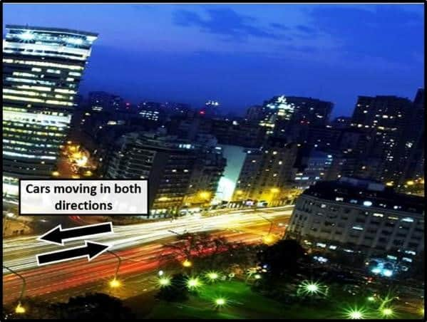 PowerPoint Animation City Night Scene Part 18 Motion Paths in Both Directions