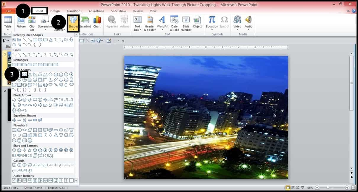 PowerPoint Animation City Night Scene Part 2 Step #1A