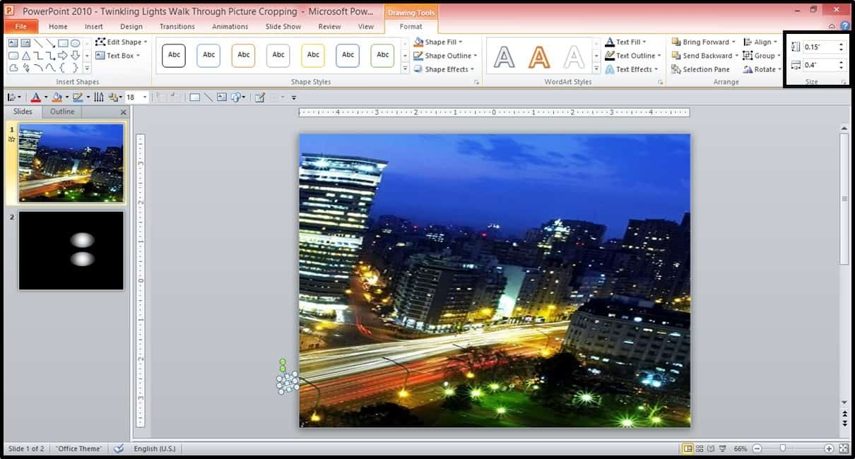 Powerpoint Animation City Night Scene Part 2 Step #8