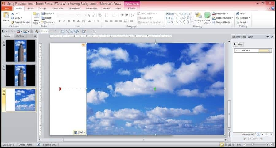 Bonus Window PowerPoint Animation Trick Step #1   Copy And Paste The Sky  Animation