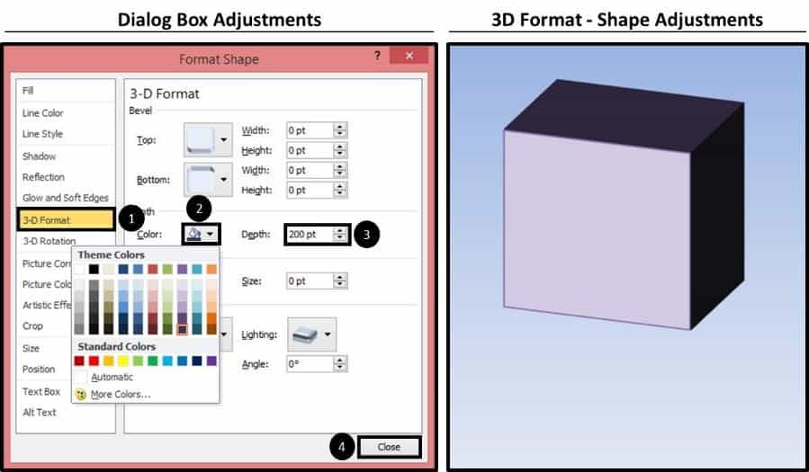 PowerPoint 3D Spinning Objects Part 1 Step #1D - 3D Format Object