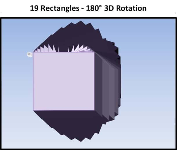 PowerPoint 3D Spinning Objects Part 3 Step #5A - 19 Rectangles