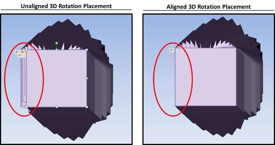 PowerPoint 3D Spinning Objects Part 3 Step #5B - Aligned and Unaligned Examples