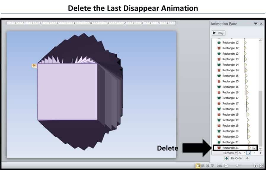PowerPoint 3D Spinning Objects Part 3 Step #6 - Remove the Last Animation