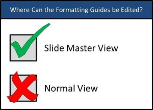 PowerPoint Best Practice - Formatting Guides Edit Views