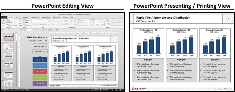 PowerPoint Best Practices - Formatting Guides #4 - Presenting and Printing your Document