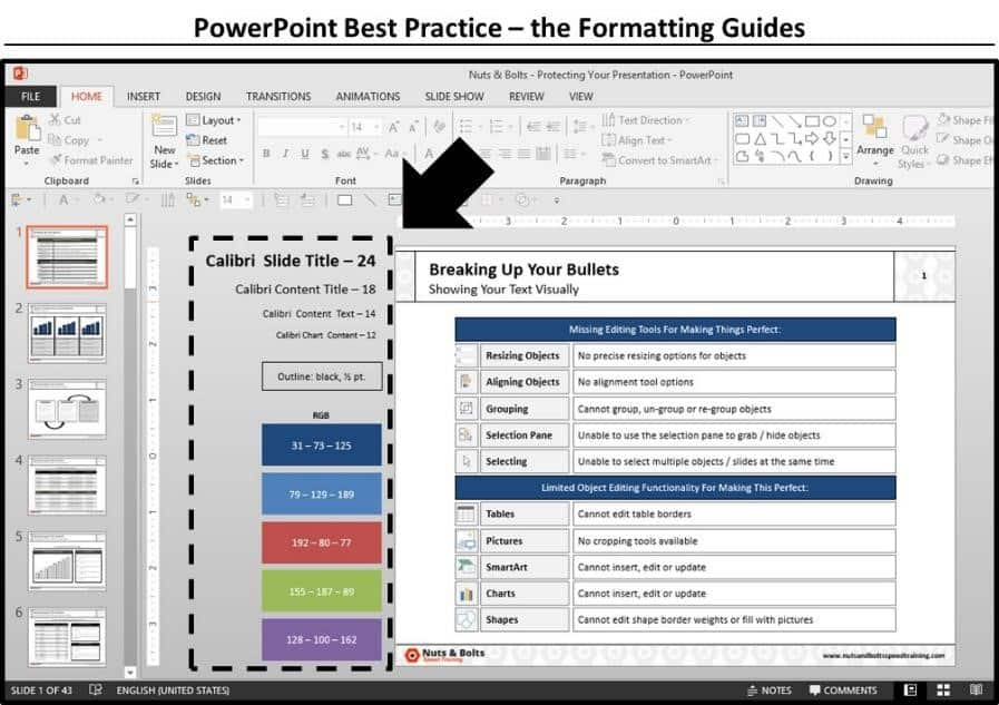 PowerPoint Best Practices - Formatting Guides