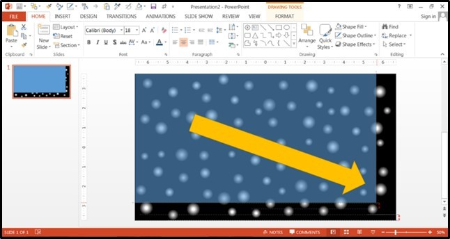PowerPoint Falling Snow Animation Part 2 Step #3A - Prepare for the Snow Animation