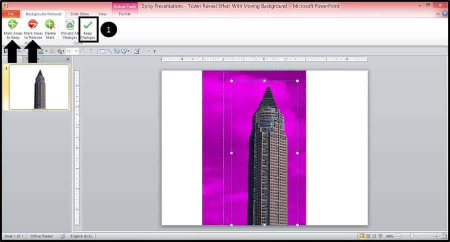 PowerPoint Reveal Animation Trick Part 1 Step #2B - Remove Picture Background
