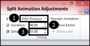 PowerPoint Reveal Animation Trick Part 3 Step #4C - Adjust the Animation Settings