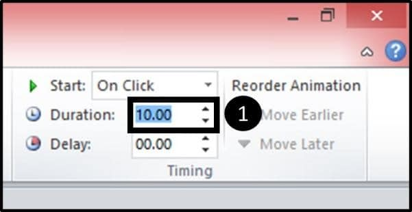 PowerPoint Reveal Animation Trick Part 3 Step #6E - Change the Duration