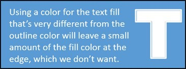 """PowerPoint Motion Text Effect Part 1 Step #4 - Be careful of your text color"""