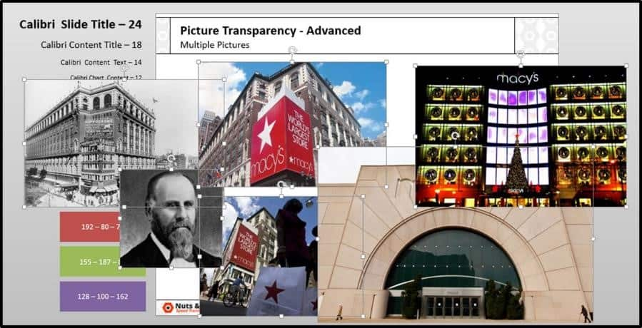 PowerPoint Picture Transparency Multiple Step #1 - Select All of your Pictures