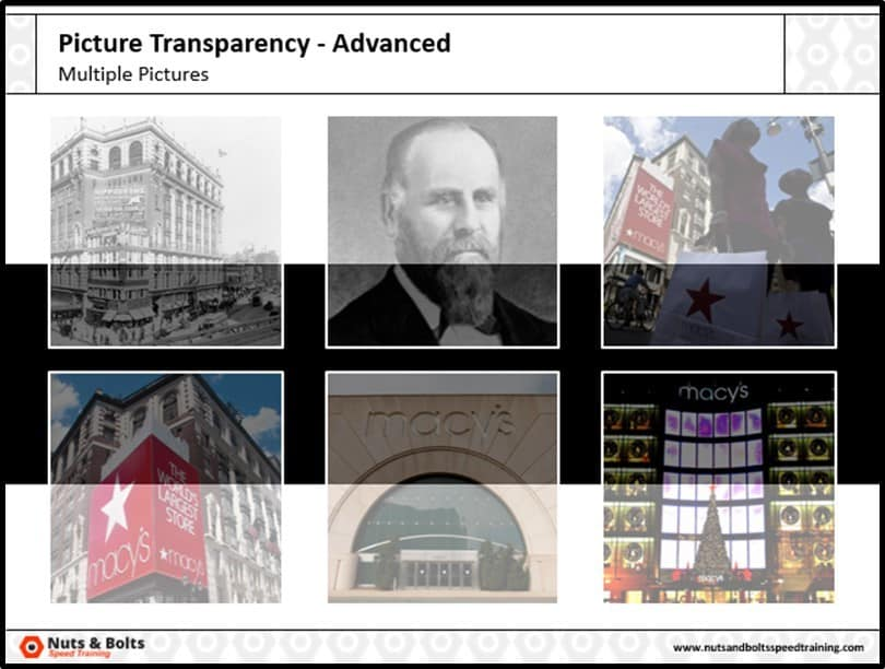 PowerPoint Picture Transparency Multiple Step #4C - Resulting Transparencies