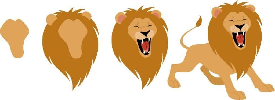 PowerPoint Vector Graphic Animation Intro #1 - Vector Graphic Lion