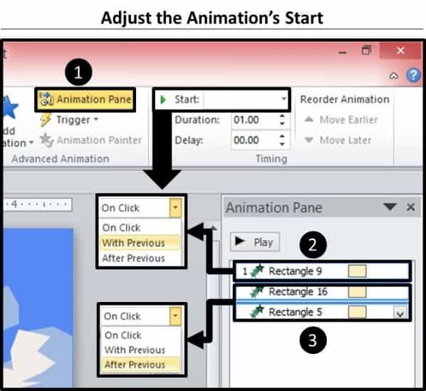 PowerPoint Vector Graphic Animation Part 2 Step #4 - Adjust the Animation Effects