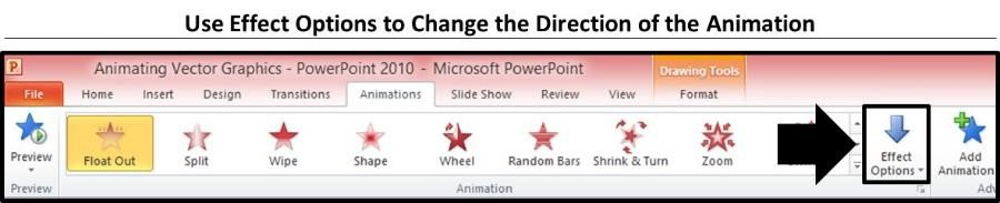 PowerPoint Vector Graphic Animation Part 3 Step #2B - Adjust the Exit Effects