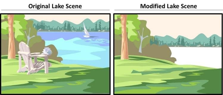 PowerPoint Vector Graphic Animation Part 4 Step #2A - Prep the Lake Scene