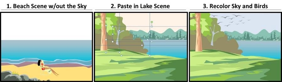 PowerPoint Vector Graphic Animation Part 4 Step #3 - Copy and Paste the Transition Scene