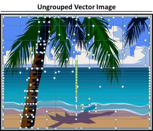 PowerPoint Vector Graphic Animation Step #2C - Ungrouped Vector Image